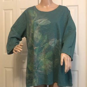 NEW LISTING - COLDWATER CREEK GREEN TUNIC